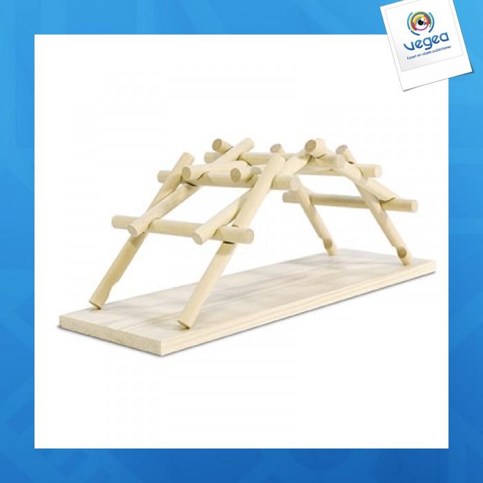 Kit de construction reflects-leonardo da vinci bridge
