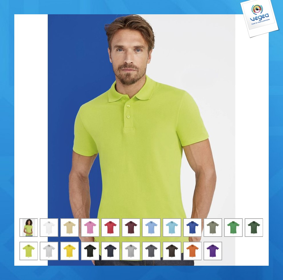 Polo manches courtes publicitaire 210g spring people